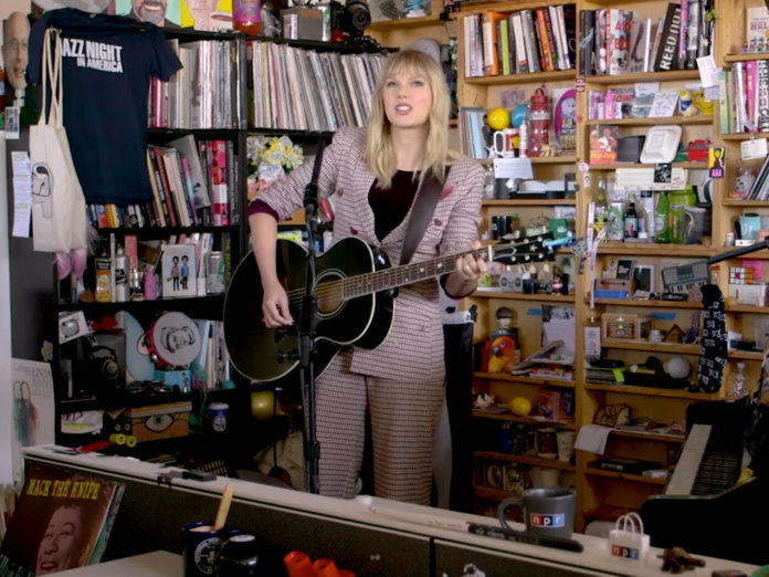 Taylor Swift NPR Music Tiny Desk Lover