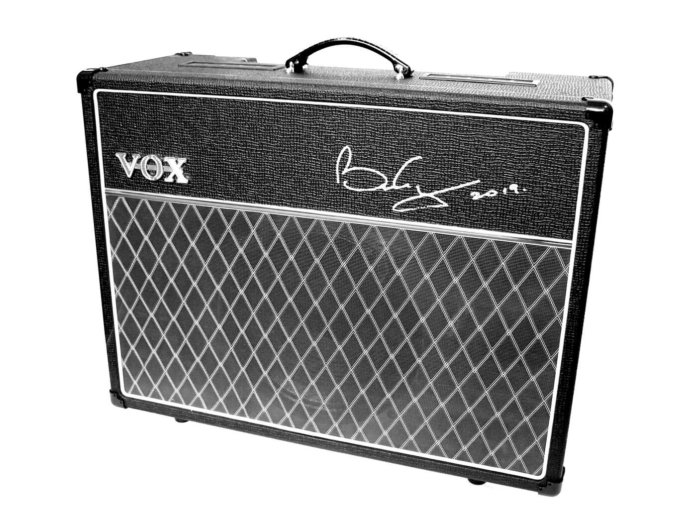 Vox AC30 signed by Queen guitarist Brian May.