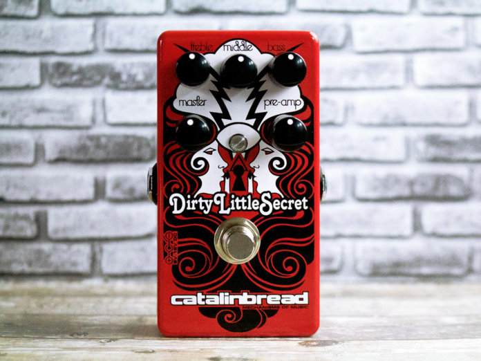 Catalinbread Dirty Little Secret Red plexi-style overdrive pedal.