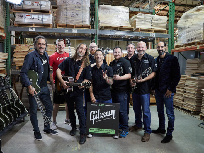 Gibson partners with Guitars For Vets to support U.S. military veterans.