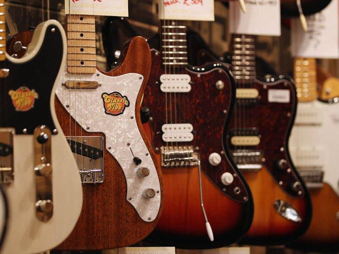 A guitar shop