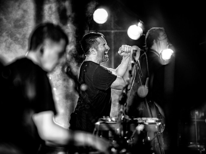 Trent Reznor, Atticus Ross and Robin Finck of Nine Inch Nails.