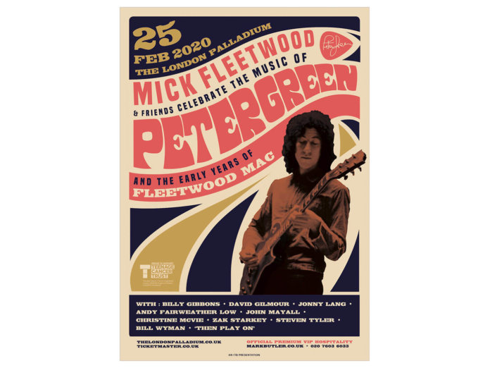 The Poster for the Peter Green tribute concert.