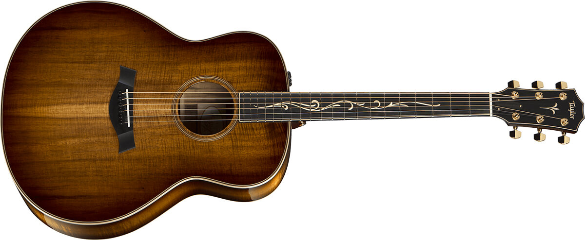 Taylor 28CE in Shaded Edgeburst.