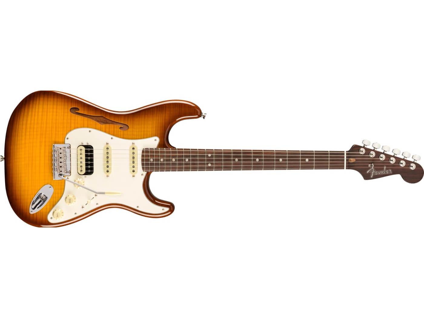 Fender Rarities Flame Maple Stratocaster HSS Thinline.