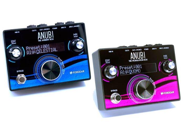 The FoxGear Anubi Ambient (Blue) and Anubi Modulation (Purple).