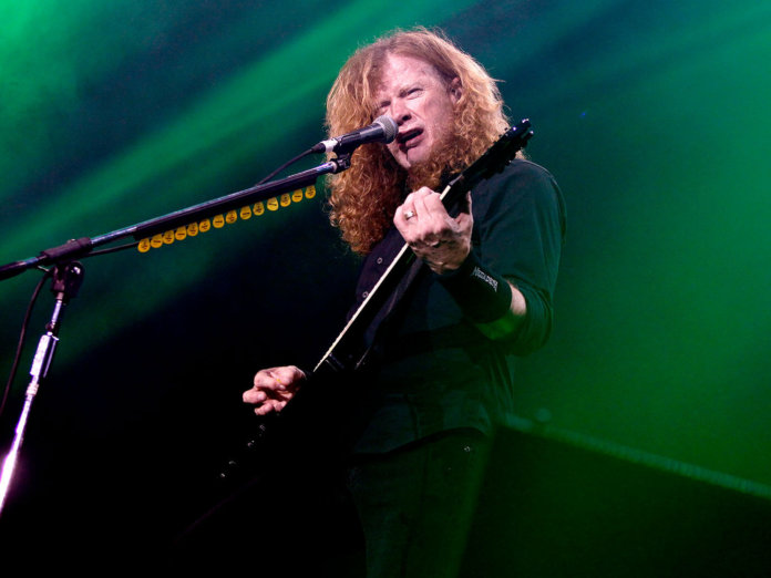 Dave Mustaine performing in 2018