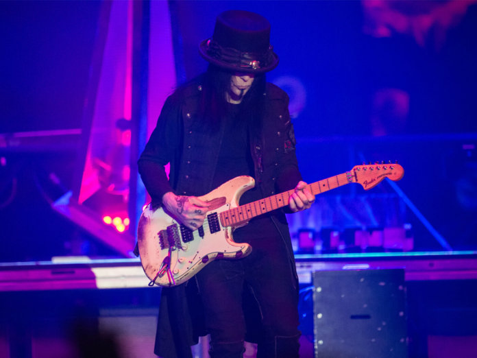 Mick Mars of Mötley Crüe performs in Wembley, London in 2015