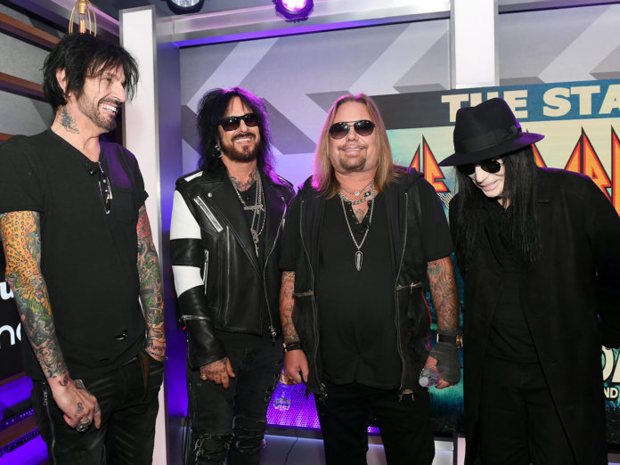 Mötley Crüe announce dates for The Stadium Tour with Def Leppard and Poison.