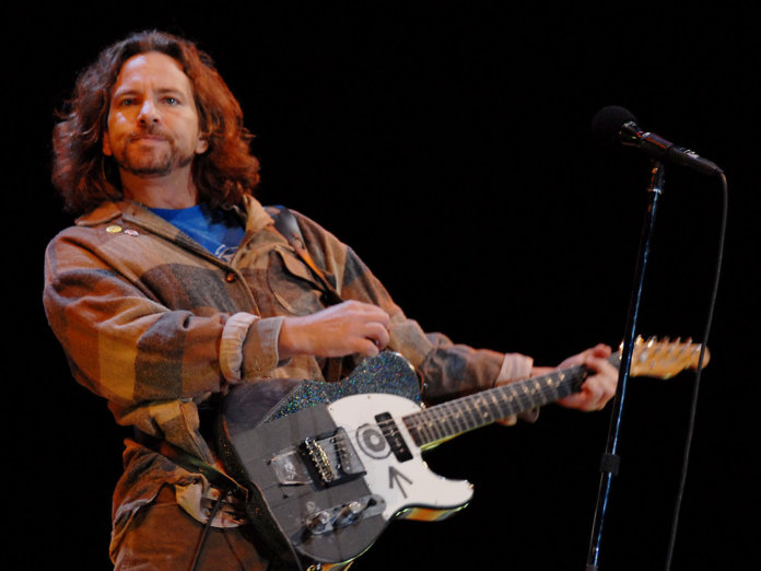Pearl Jam's Eddie Vedder performing at Reading 2015