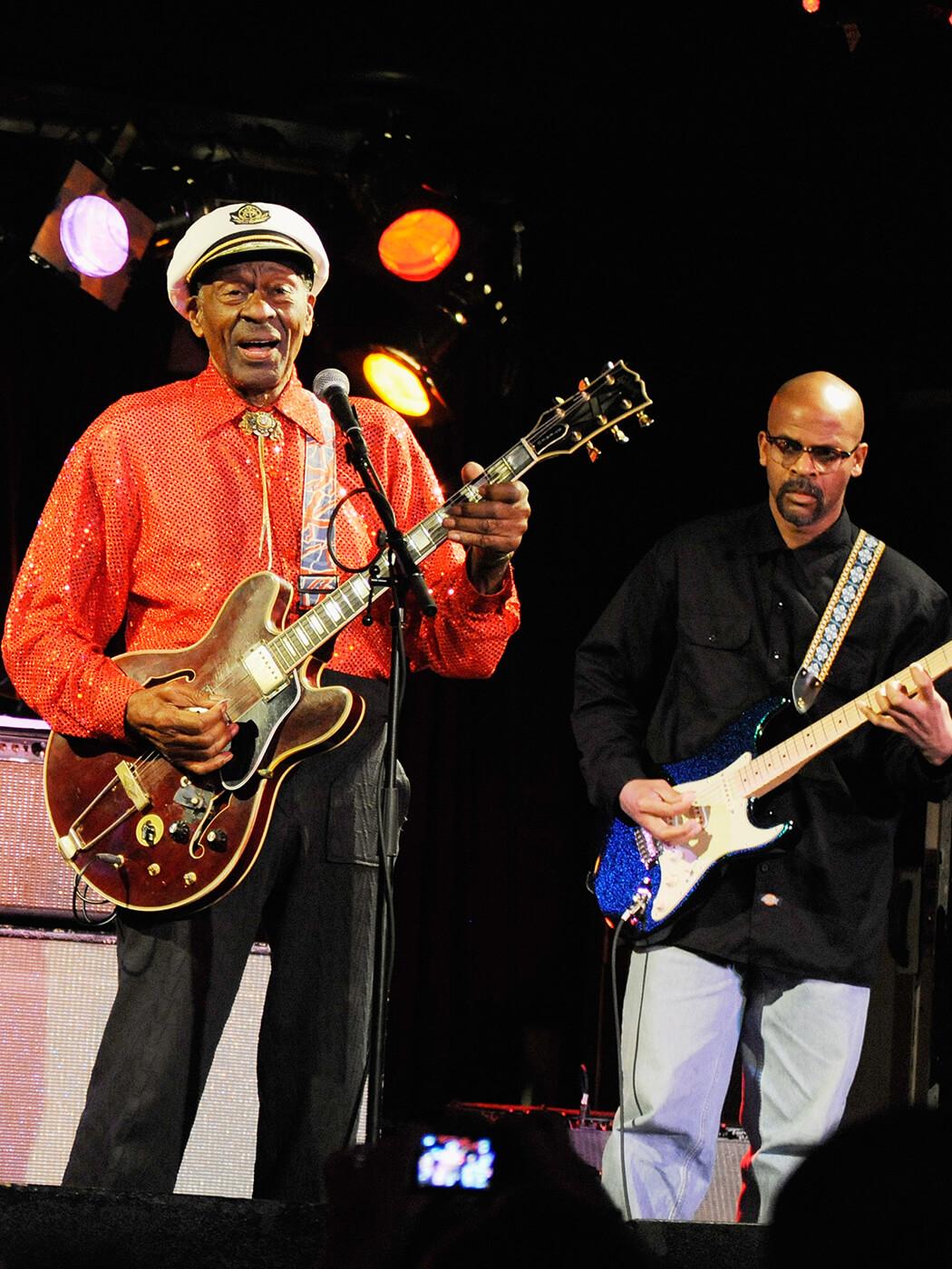 Chuck Berry Sr and Chuck Berry Jr