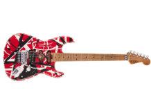 EVH Striped Series Frankie Red w BW Stripes Relic