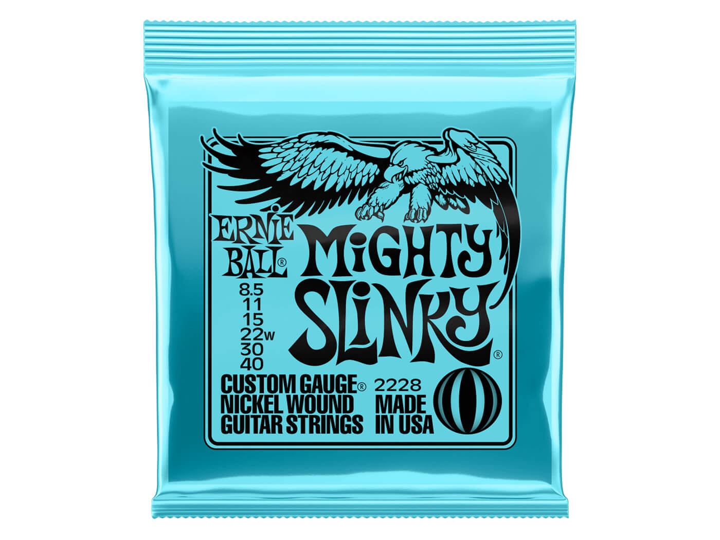 Ernie Ball Mighty Slinky Nickel Wound Electric Guitar Strings