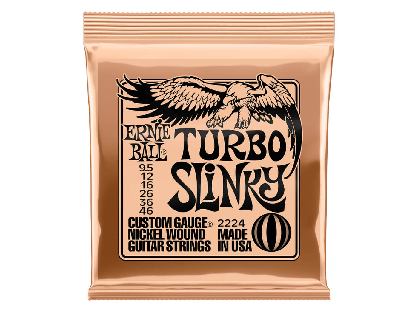 Ernie Ball Turbo Slinky Nickel Wound Electric Guitar Strings