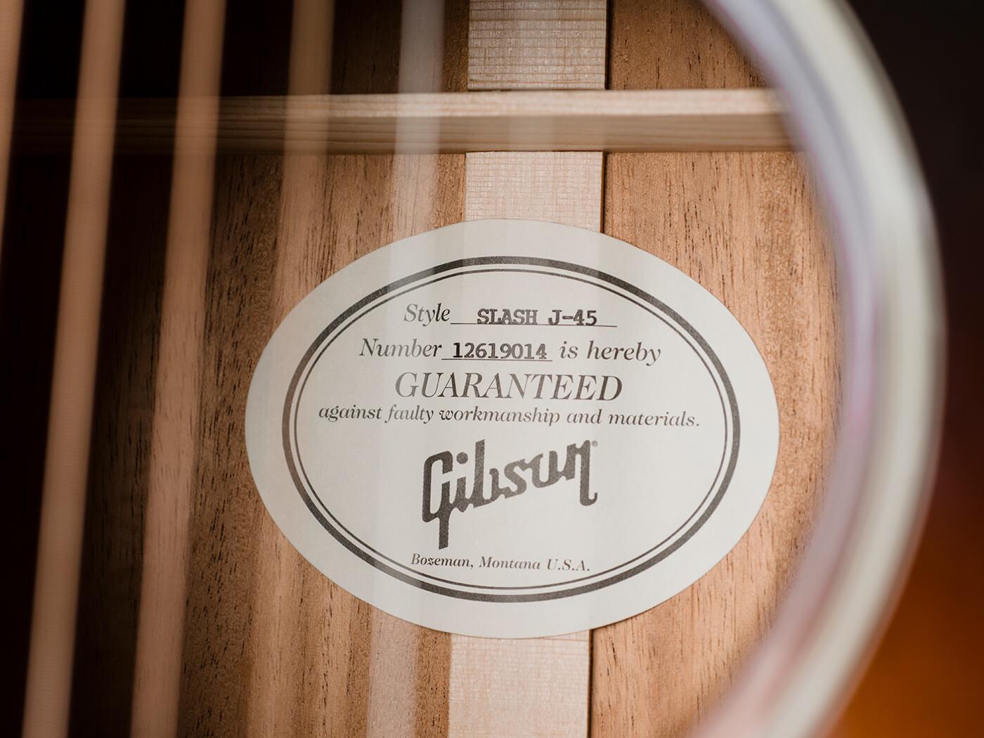 Gibson Slash J45 (Interior)