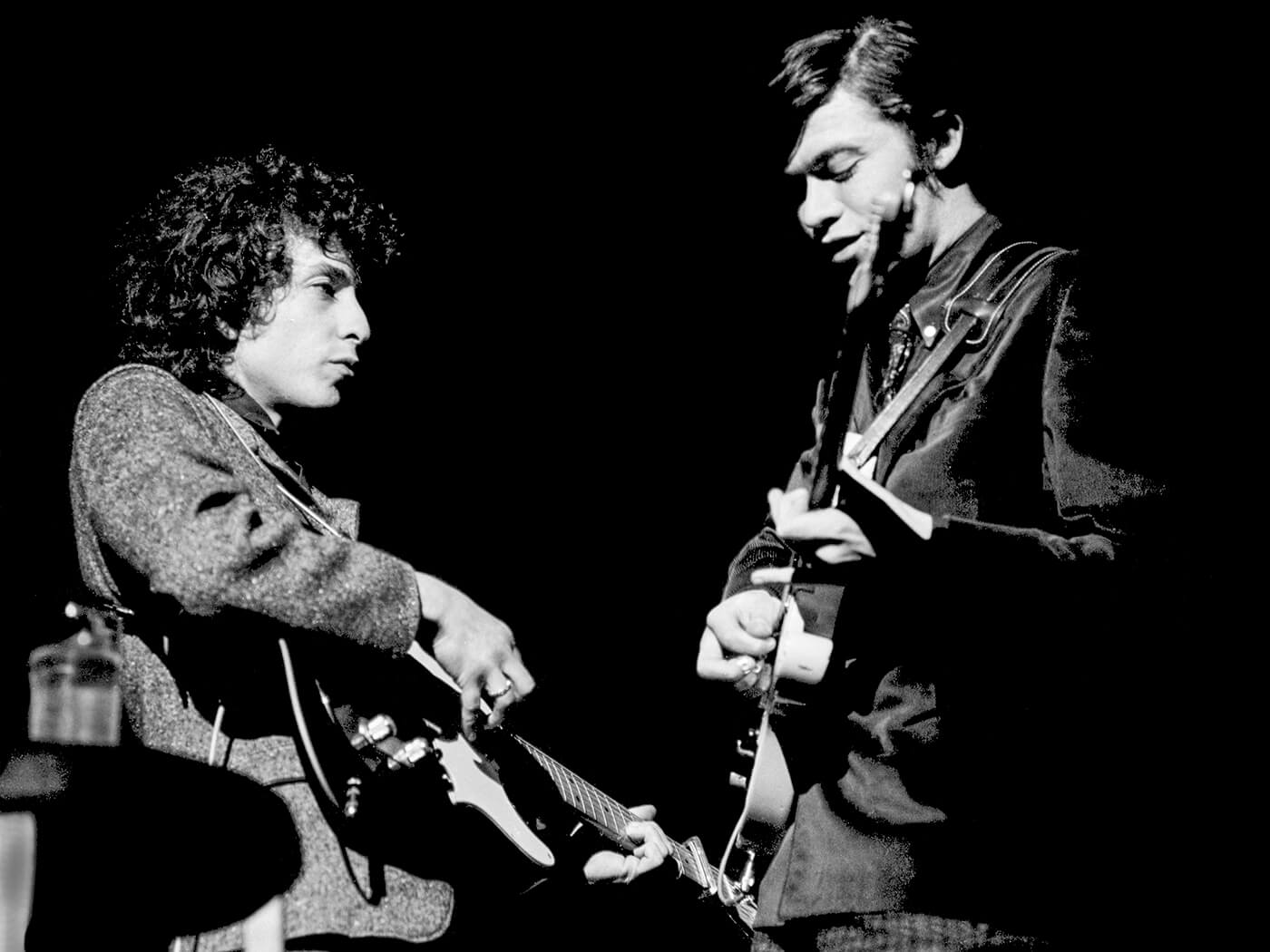 Robbie Robertson with Bob Dylan