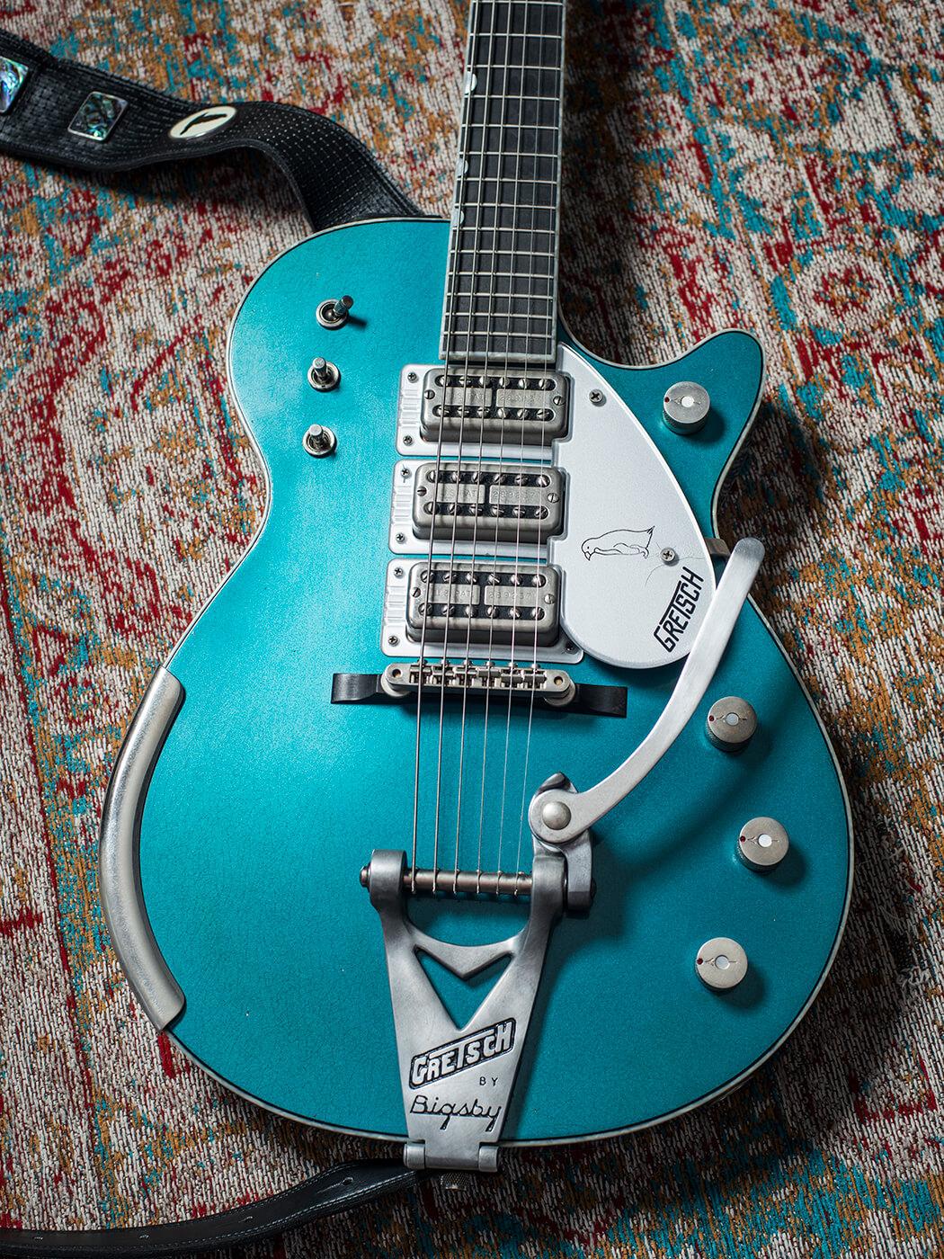 Scott Holiday's Gretsch Custom Shop Stephen Stern Masterbuilt Blue Penguin (Body)