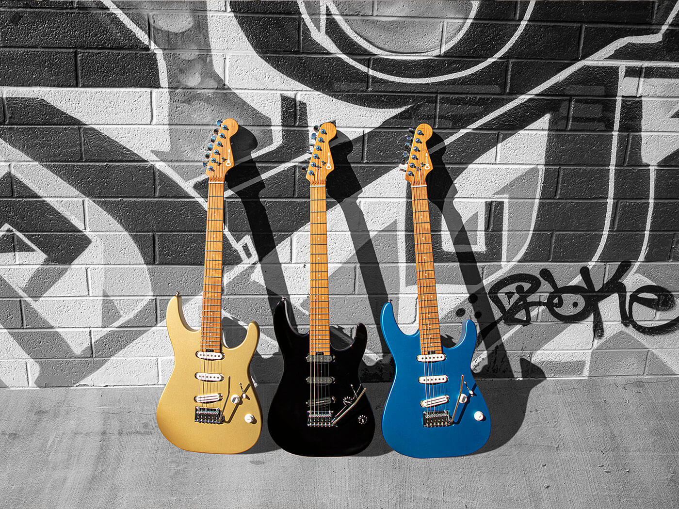 The Charvel Pro-Mod DK22 in its different finishes.