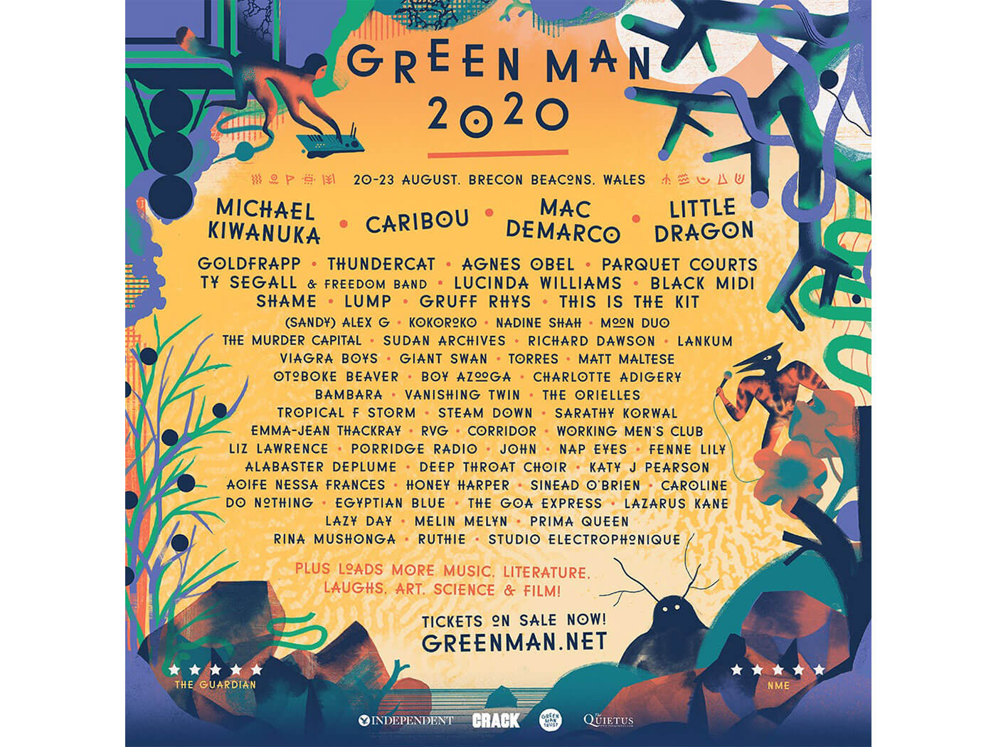 Green Man's Lineup