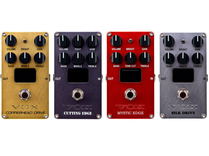 The new VOX Nutube pedals