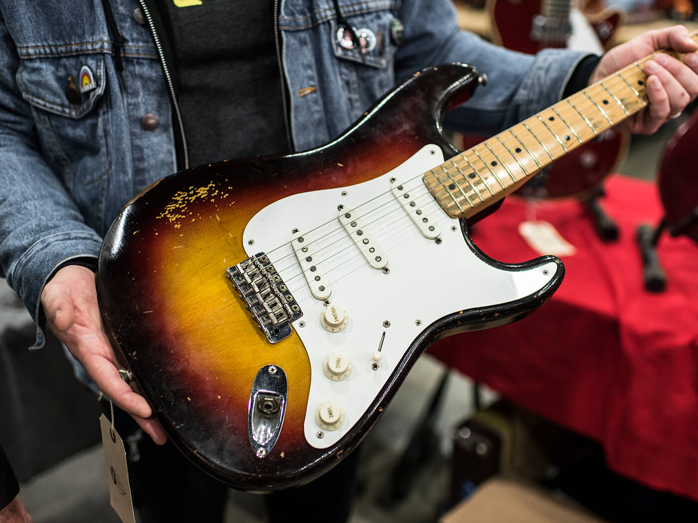 1958 Stratocaster in original three-tone sunburst
