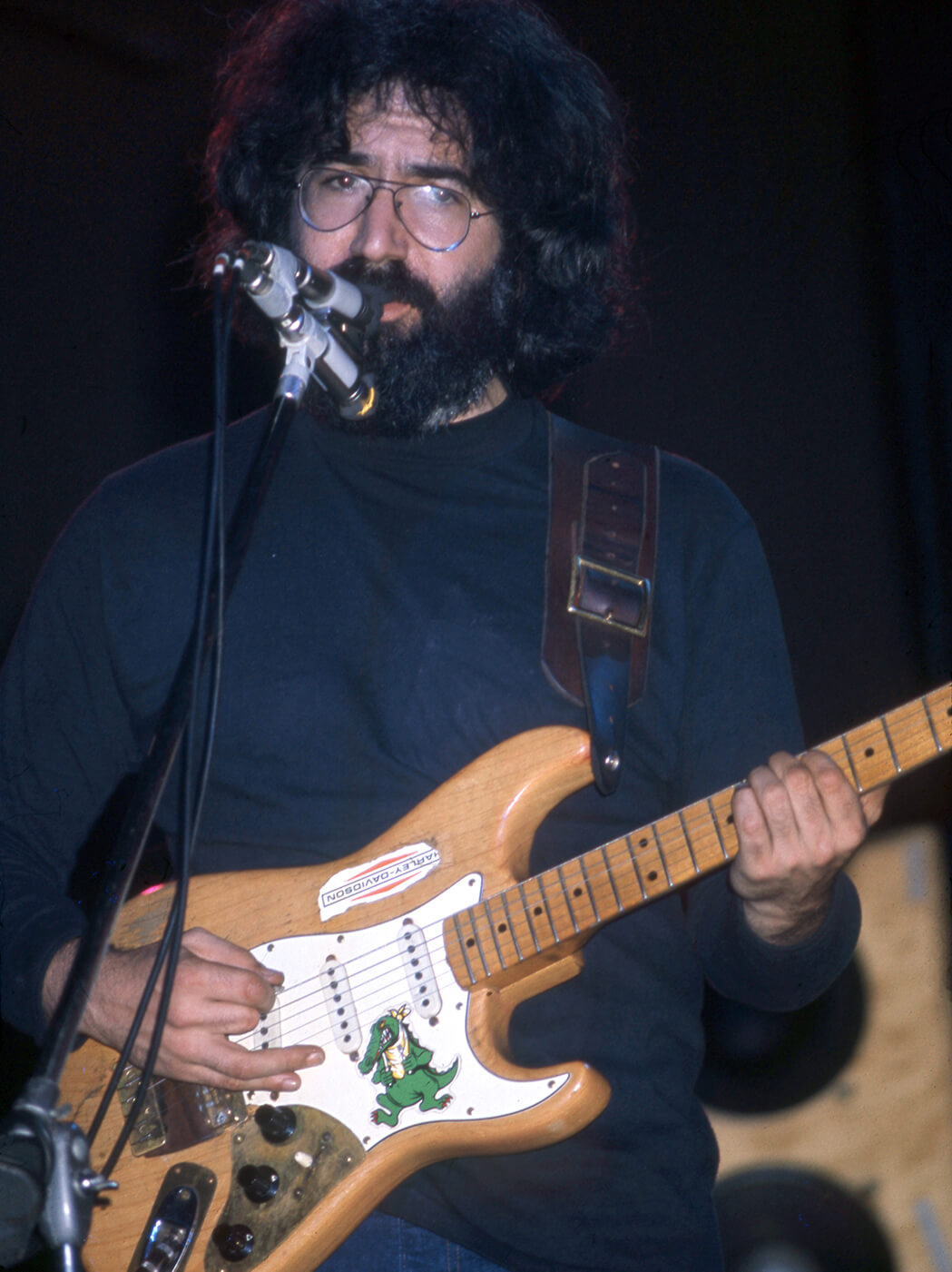 Jerry Garcia with his alligator strat