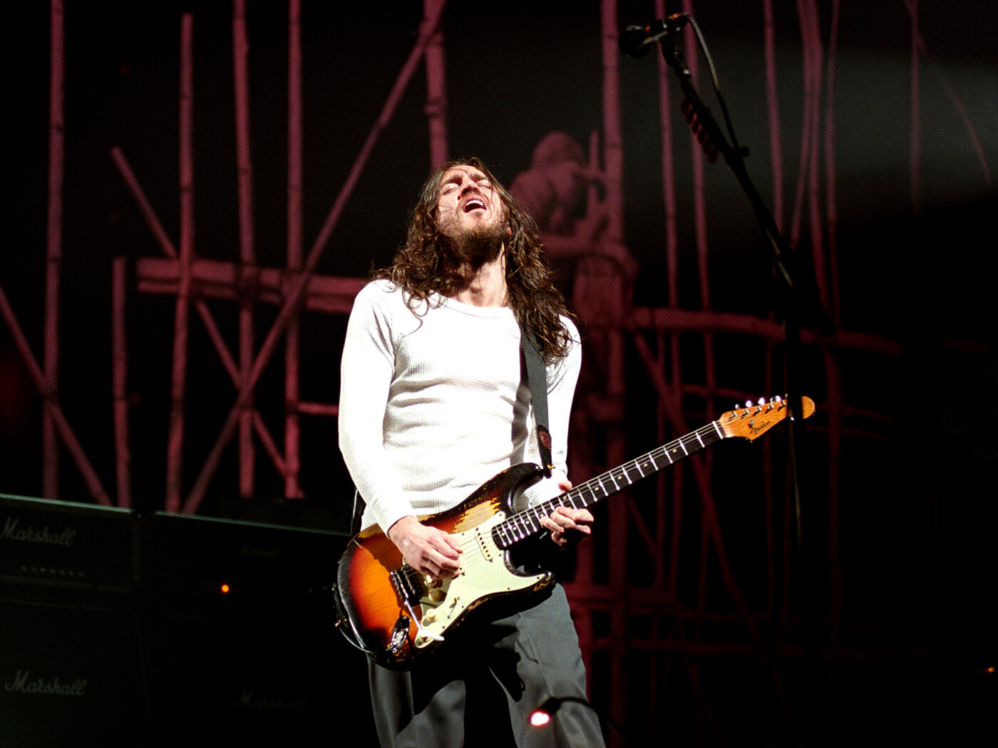 John Frusciante performs with Red Hot Chili Peppers for ...