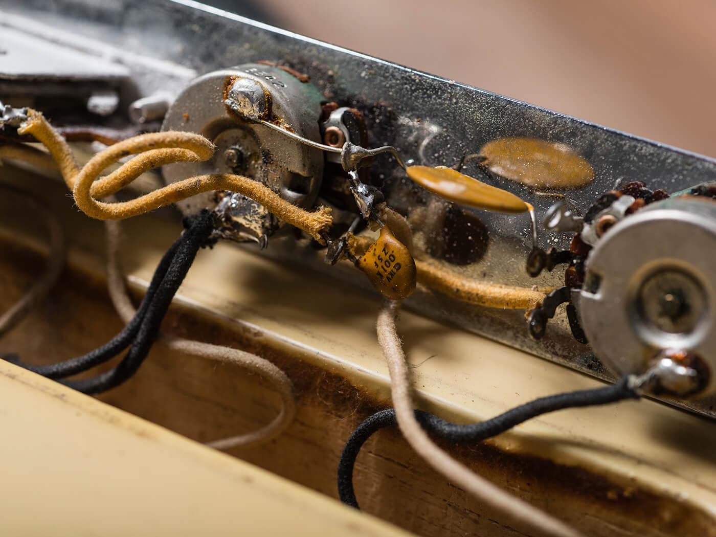 1968 Olympic White Telecaster Electronics
