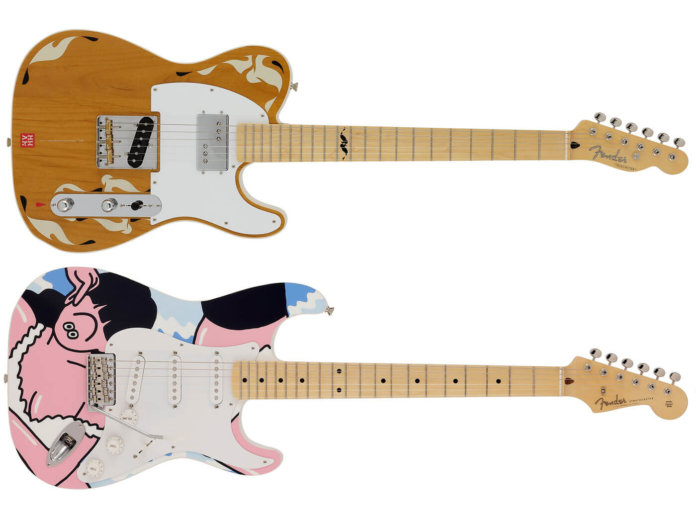 Fender's Art Gallery Strat and Tele