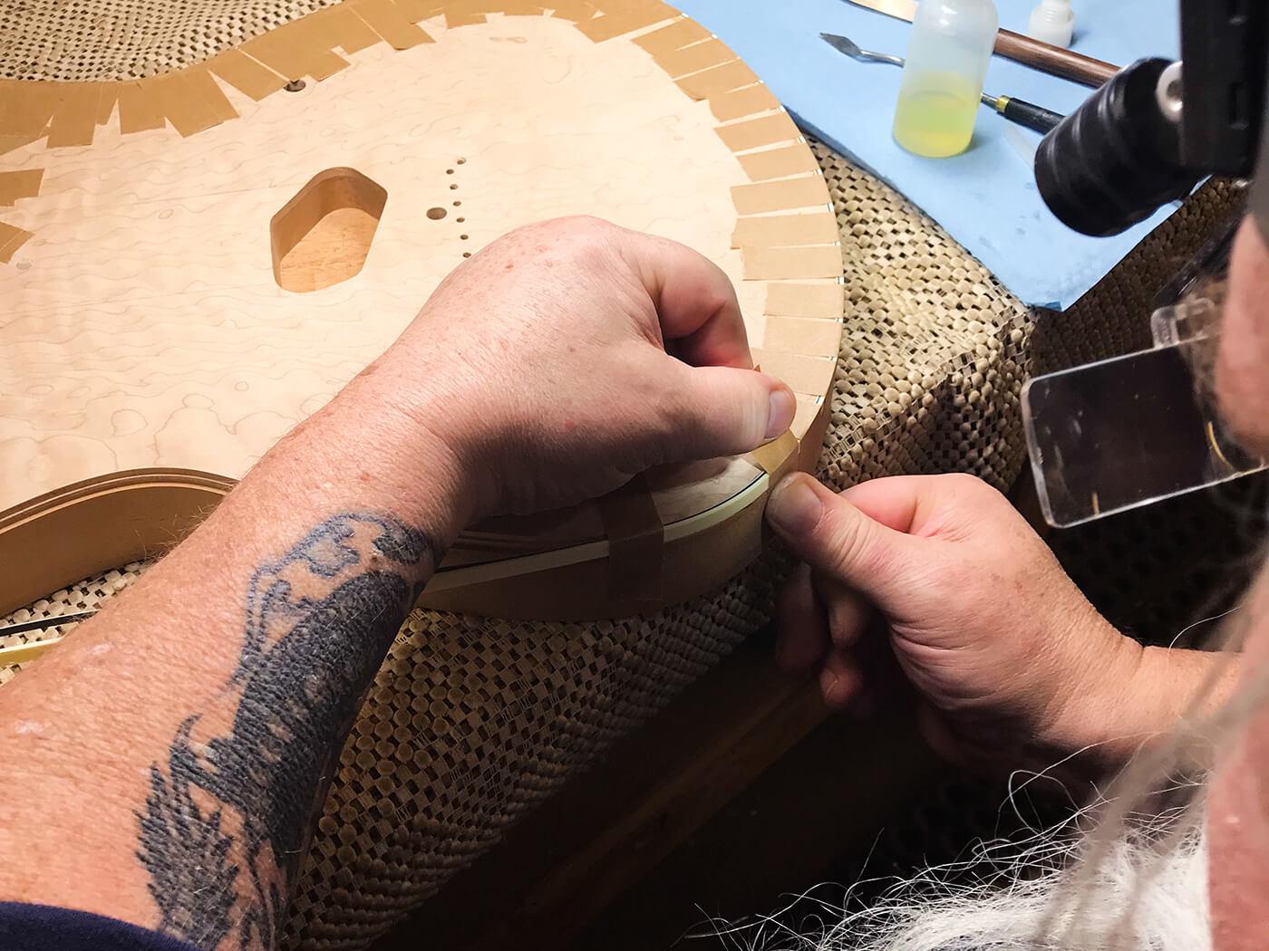 John Page Talking Shop Binding Detail