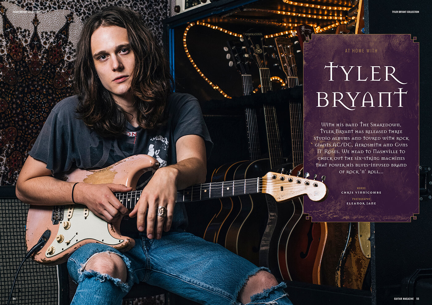 tyler bryant guitar collection