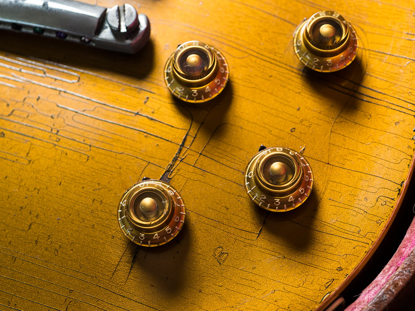 Brian Ray's 1957 Les Paul Goldtop Knobs