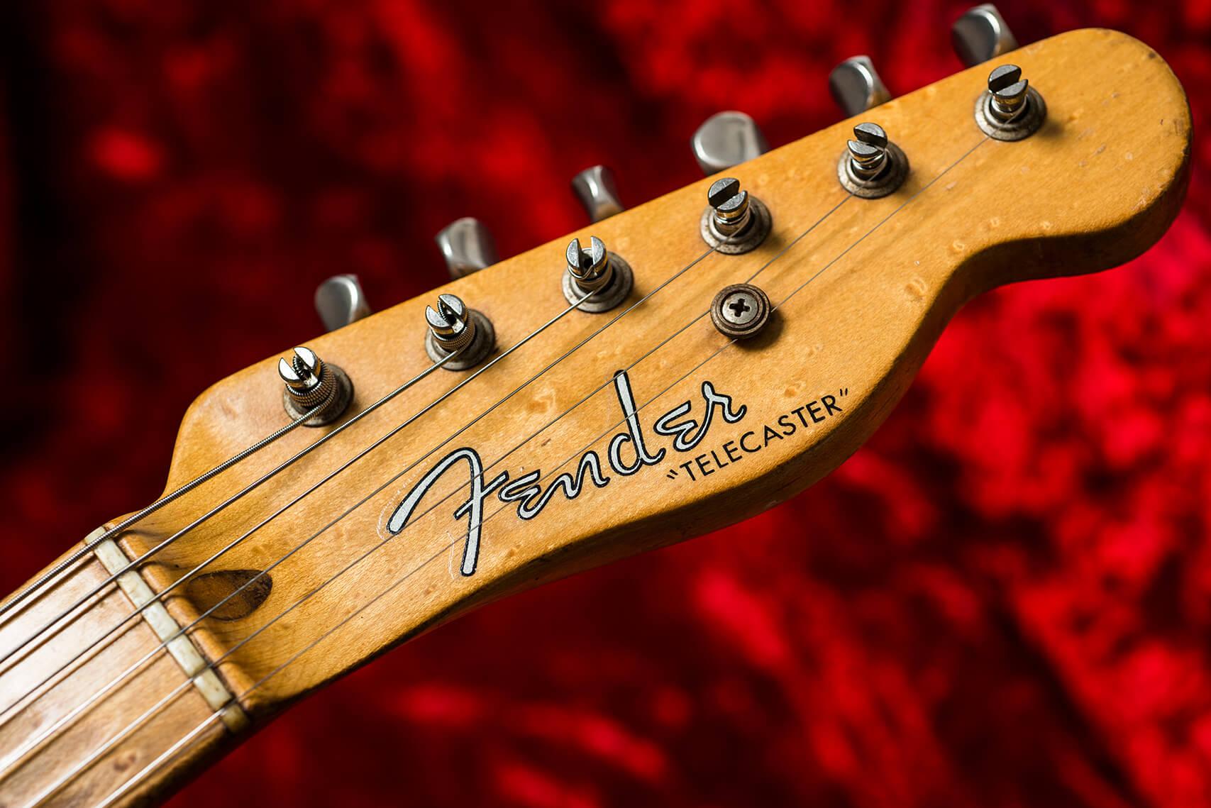 Jeff Garlin's 1953 Fender Telecaster Headstock