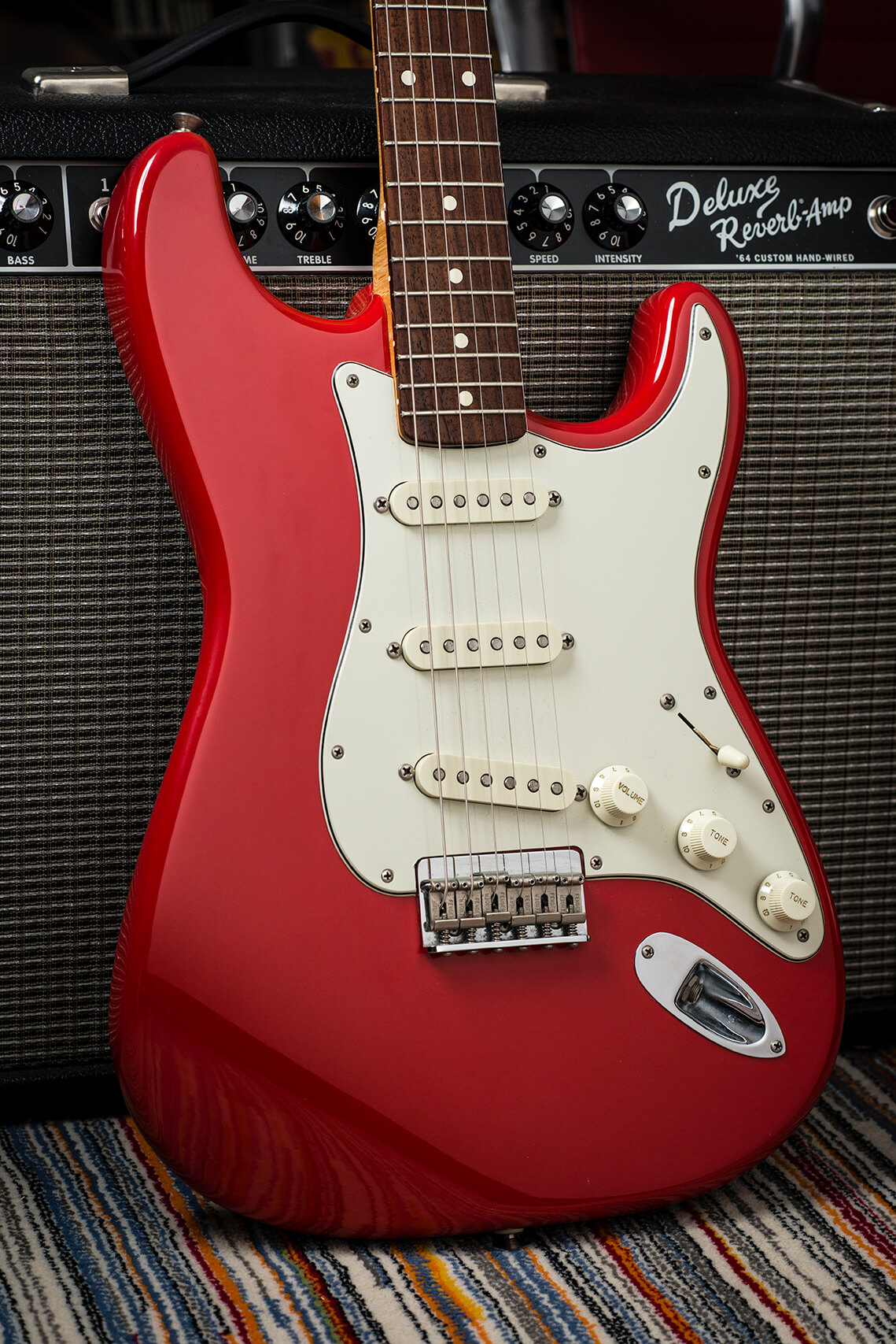 Jeff Garlin's Fender Custom Shop Robert Cray Fiesta Red Stratocaster Body