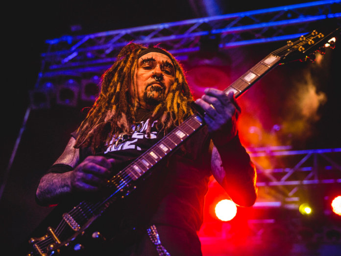 Al Jourgensen onstage with Ministry