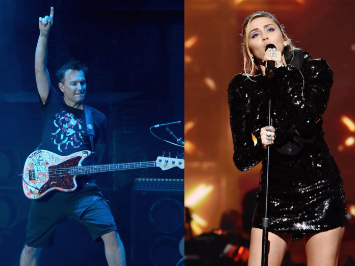 Blink 182's Mark Hoppus and Miley Cyrus
