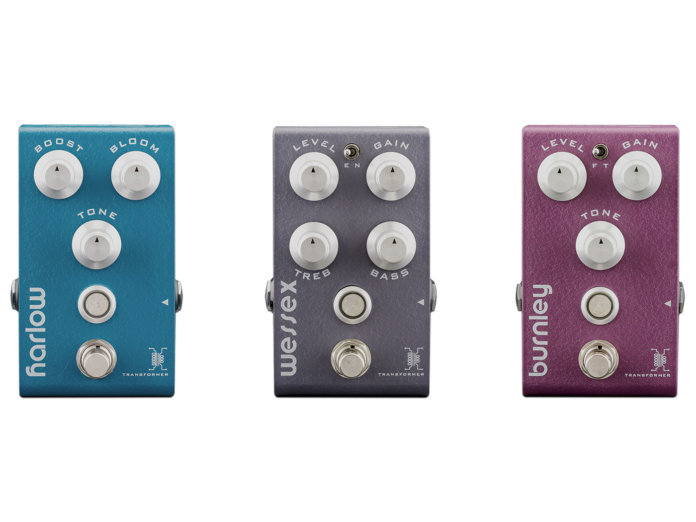 Bogner's new V2 pedals featuring the Custom Audio Transformer