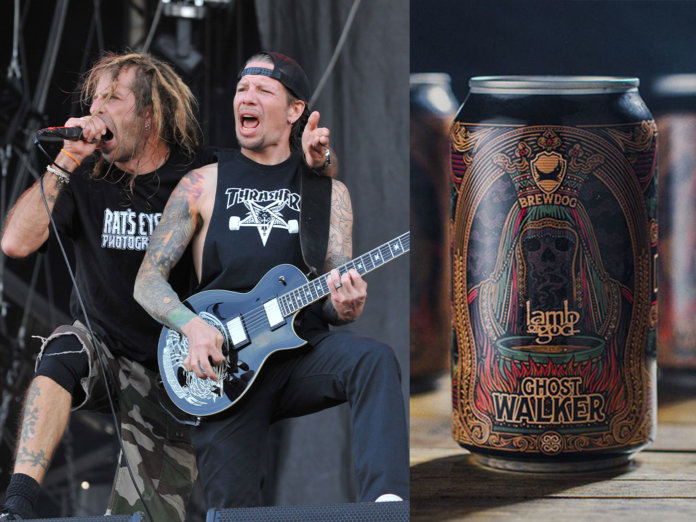 Lamb of God's Randy Blythe and Willie Adler, along with their beer