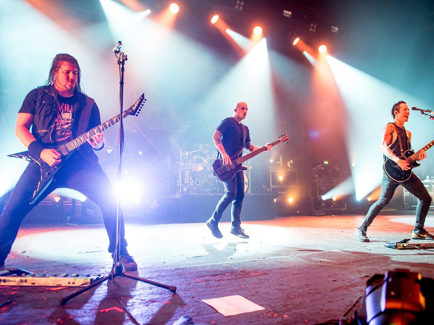 Trivium performing live.