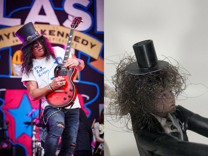 Slash and his wedding cake topper