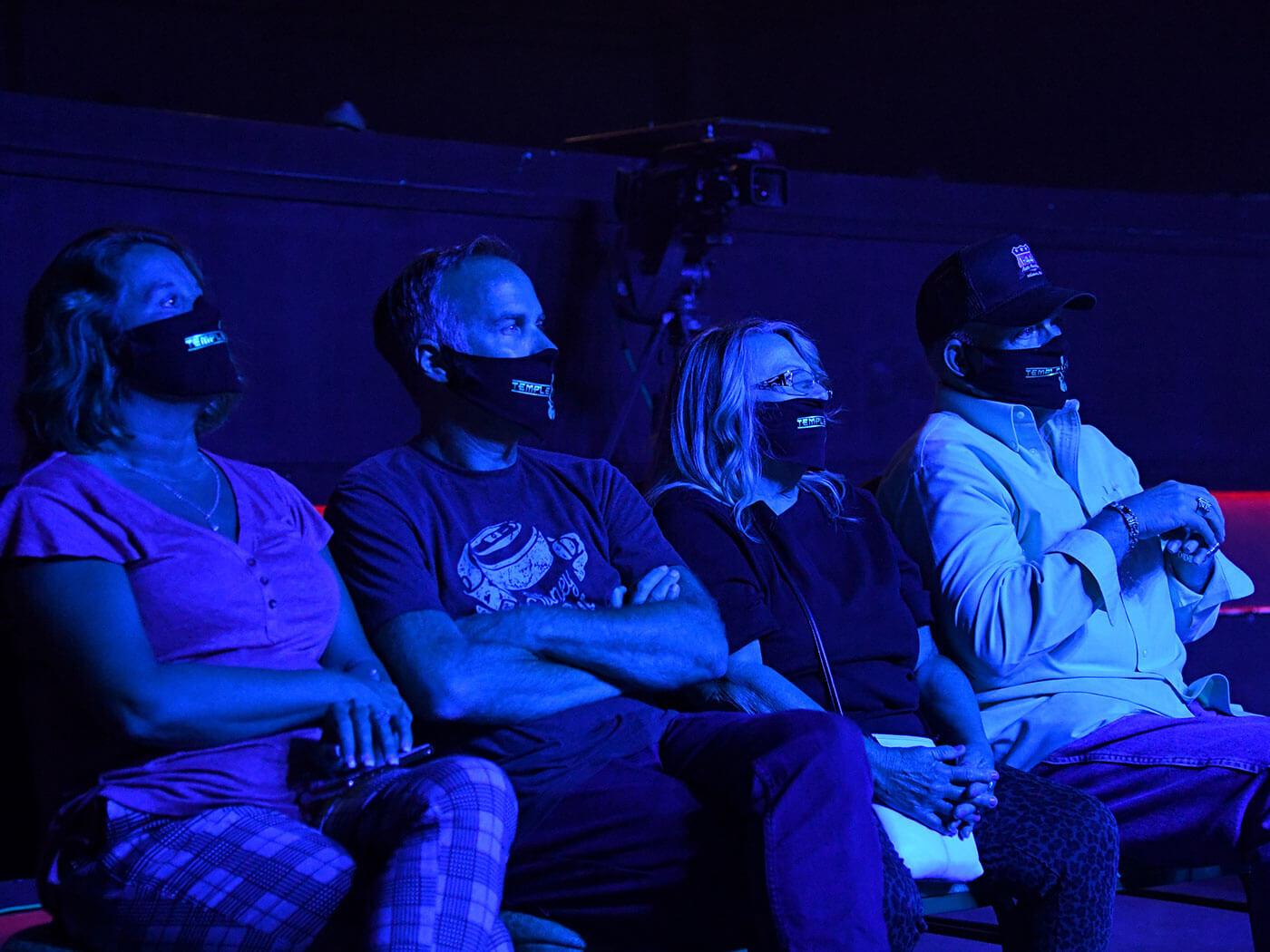 Audience Members wearing masks