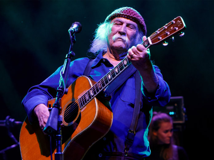 David Crosby onstage