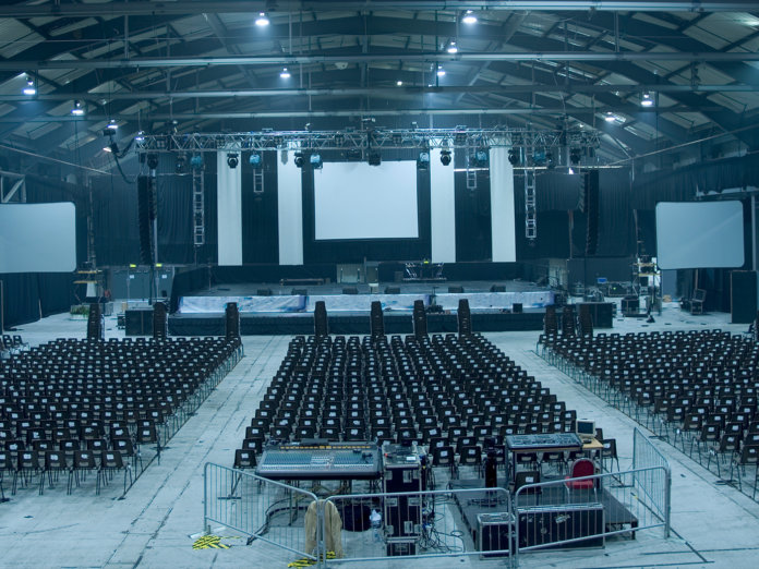 concert venue empty