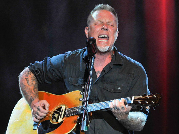 James Hetfield onstage