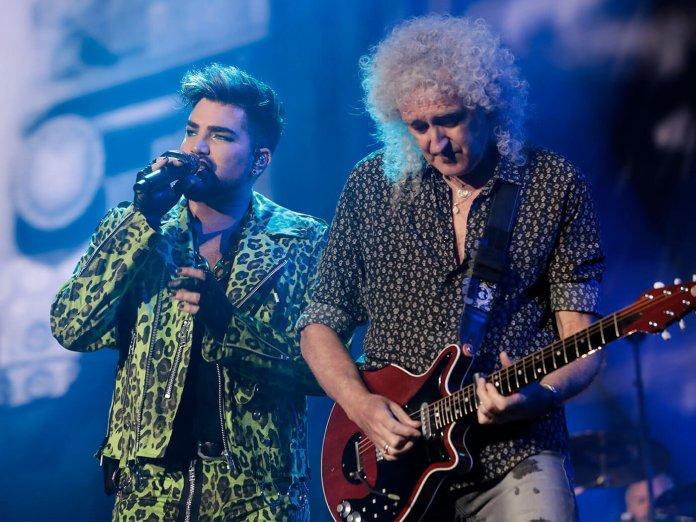 Queen and Adam Lambert performing live