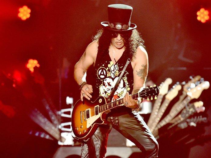 Slash performing with Guns N' Roses