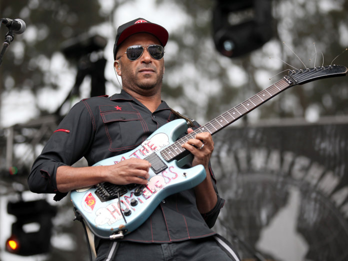 tom morello onstage