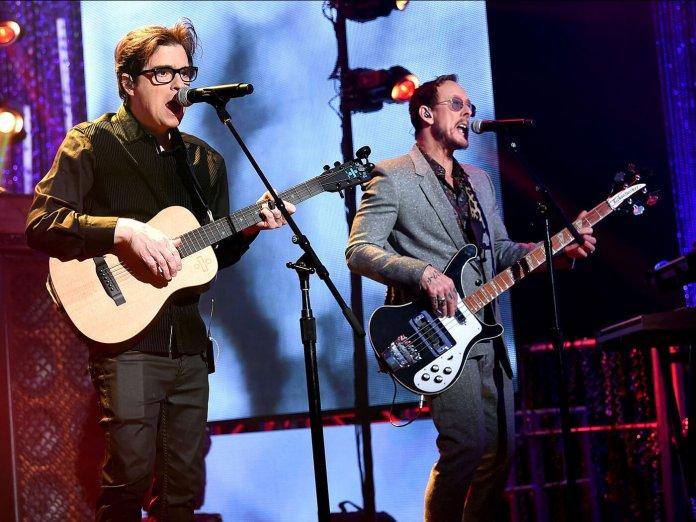 Weezer performing live