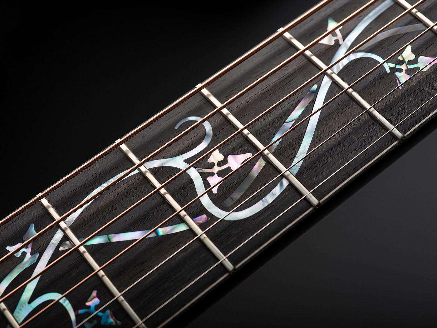 McNally Guitars Presentation OM Celtic Ivy Fretboard
