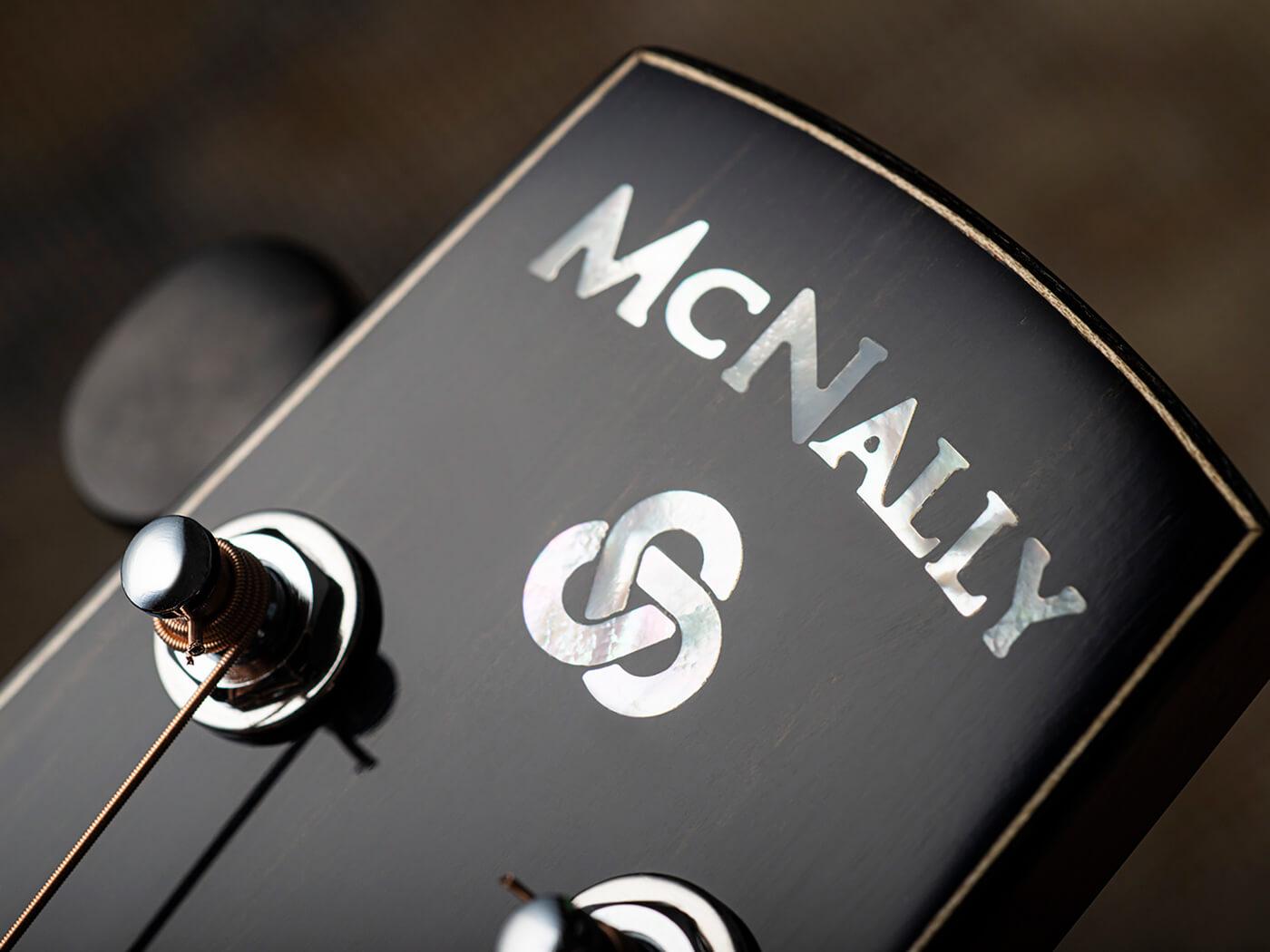 McNally Guitars Presentation OM Celtic Ivy Headstock
